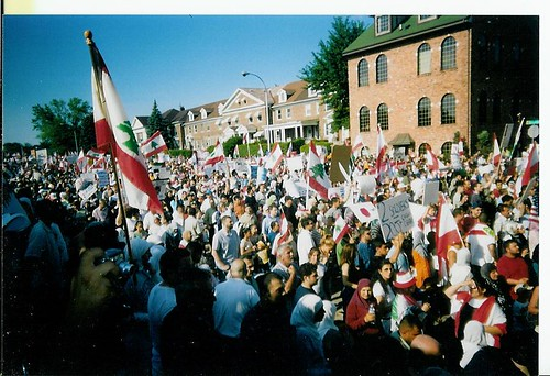 Dearborn Demonstration to Support Lebanon & Palestine: PANW Photo, July 18, 2006 by panafnewswire