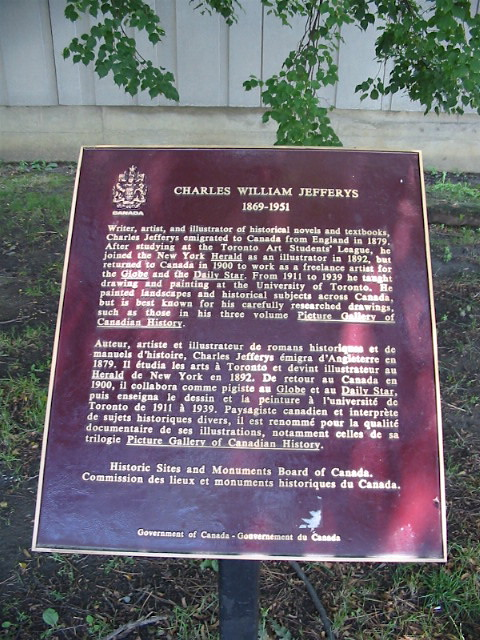 Photo of Charles William Jefferys red plaque