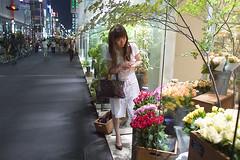 銀座の花屋のお客