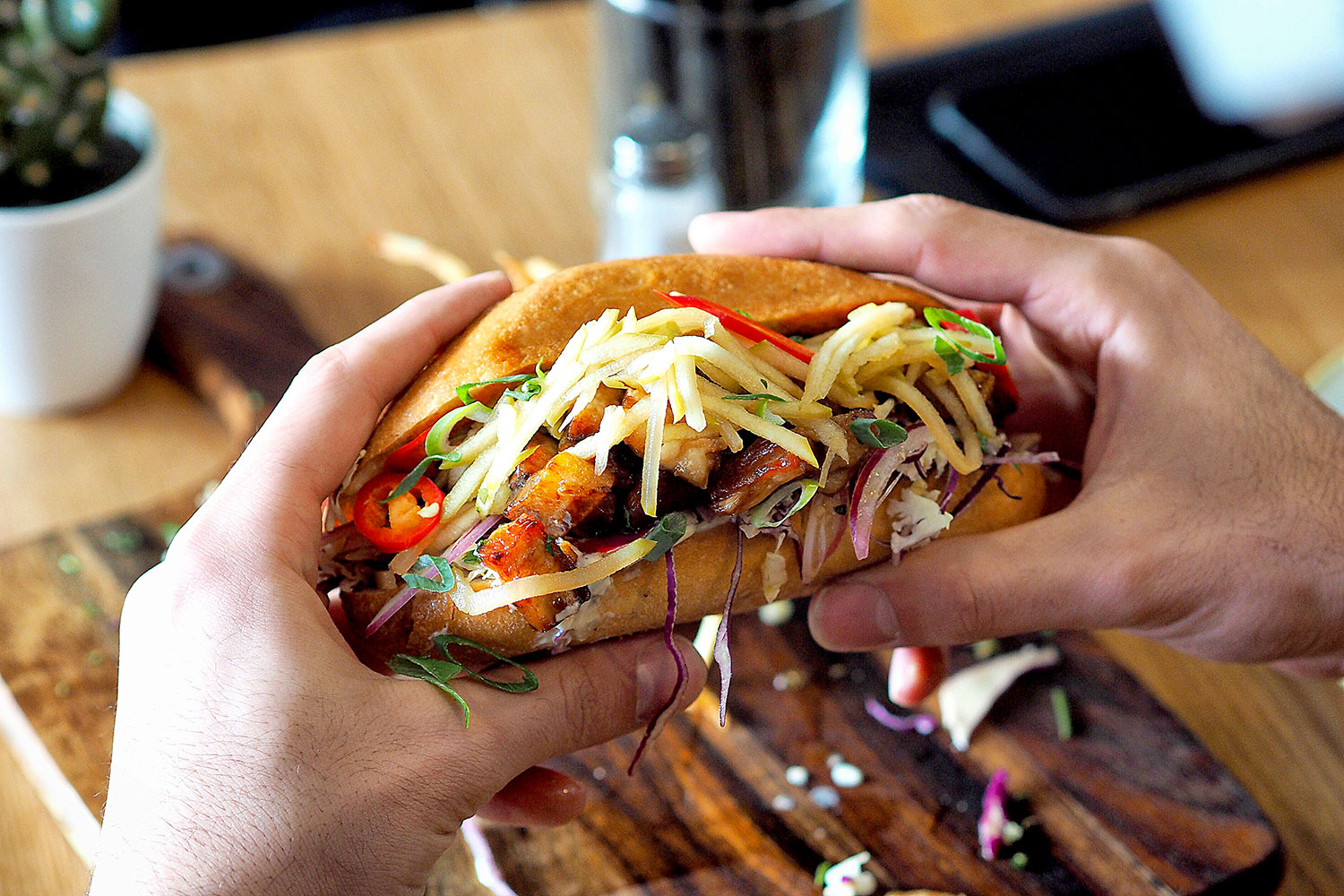 Sydney Food Blog Review of Hungry Wolf, Wollongong: Pork Belly, Po' Boy, $10