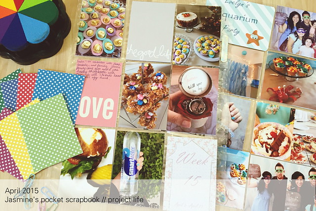 jasmine's pocket scrapbook // project life :: april 2015