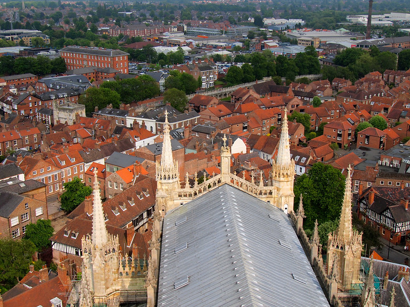 View from York Minster bell tower