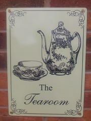 The Tearoom sign
