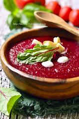 Beetroot gazpacho.