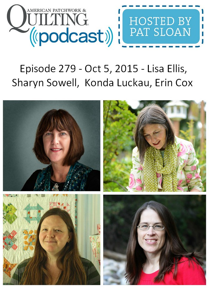 2 American Patchwork Quilting Pocast episode 279 Oct 5 2015
