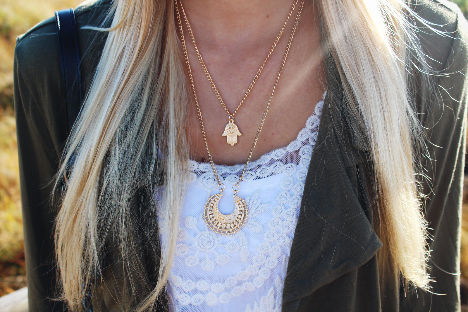 golden bohemian necklace