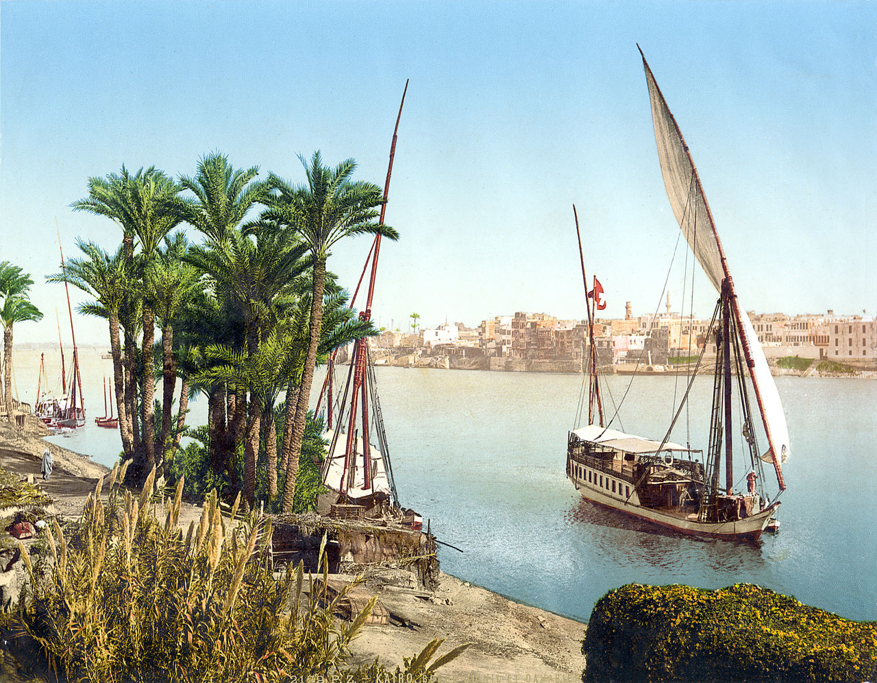 Sailboat on the Nile, Cairo, Egypt