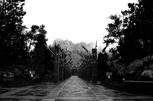 Foggy Mount Rushmore