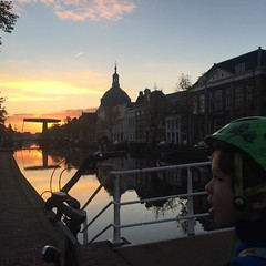 we could hardly believe it this morning...#sunrise #nofilter #bicycle #netherlands