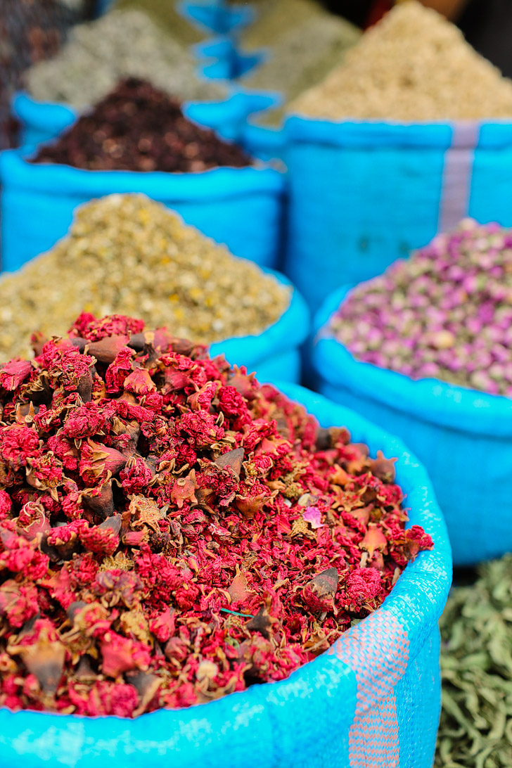 Spice Shopping at Place Jemaa el Fna Marrakech Market (Things to Do in Morocco).