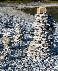 Olderfjord - stone pyramid