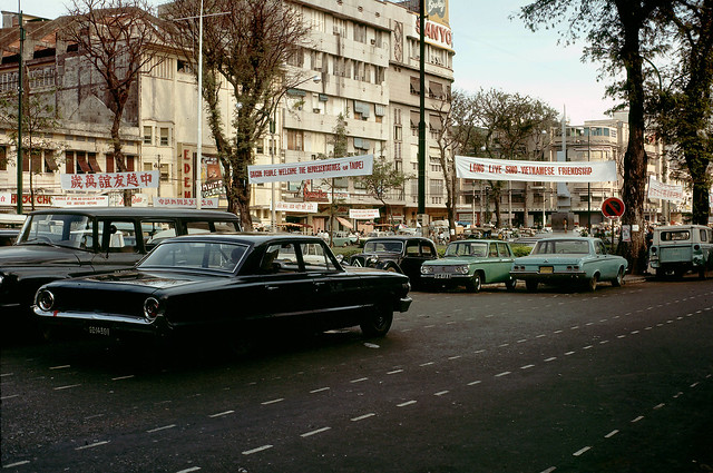 Saigon Parking Lot 1968 - by William Ruzin