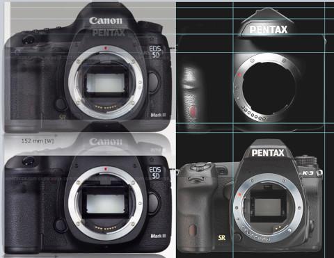 Canon EOS 5D Mark IIIとPENTAXフルサイズの比較