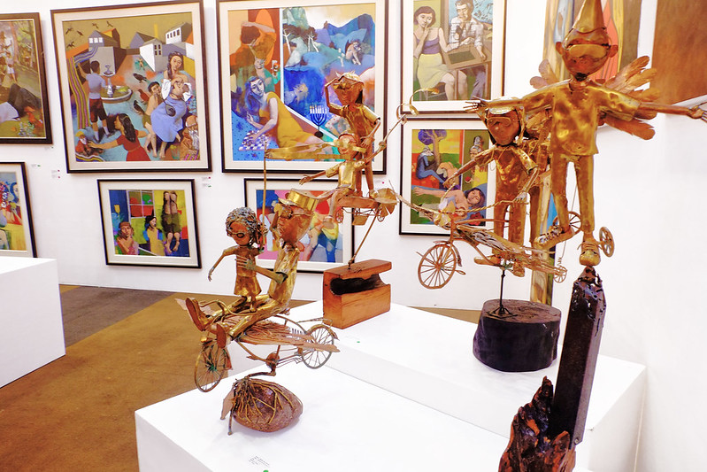 Manilart 2015 Dream to Fly Series by Adrian Jay Manuel Brass sculptures