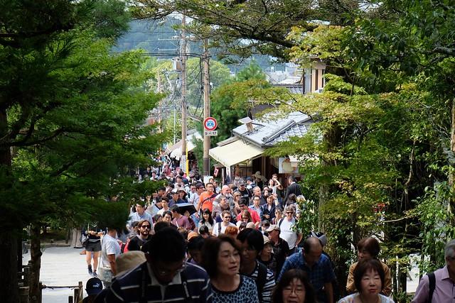 People waiting to get in to Ginkakuji