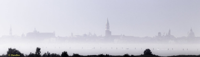 Venice - view on a foggy day
