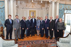 U.S. Secretary of State John Kerry poses for a photo with the Massachusetts delegation after their meeting at the U.S. Department of State in Washington, D.C. on October 8, 2015. [State Department Photo/Public Domain]