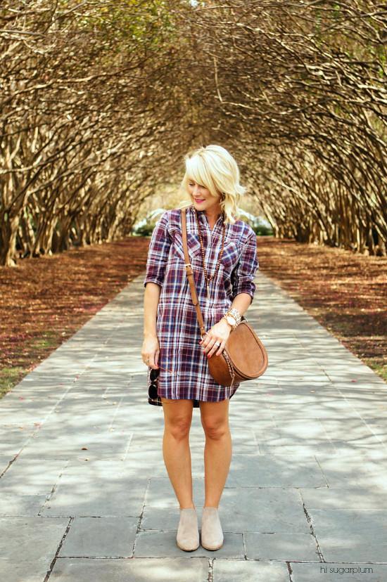 Hi Sugarplum | Plaid Shirtdress / Now & Later