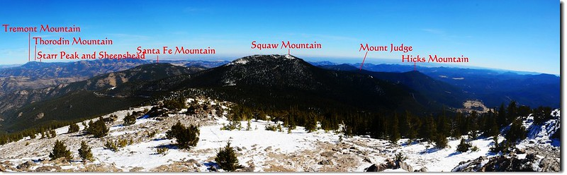 Overlooking east from the summit of Chief Mountain 1-1