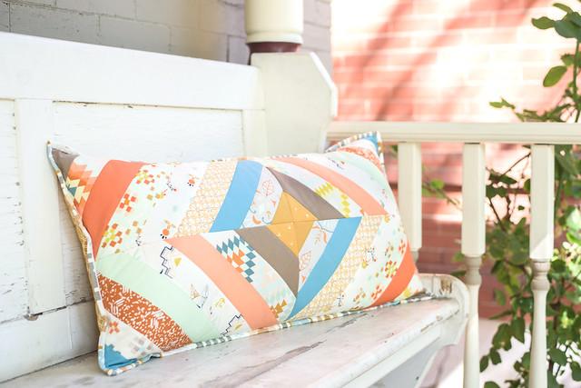 Craftsy Class -- A Diamond Strings Pillow!