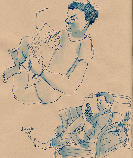 Sketchbook #93: Reading