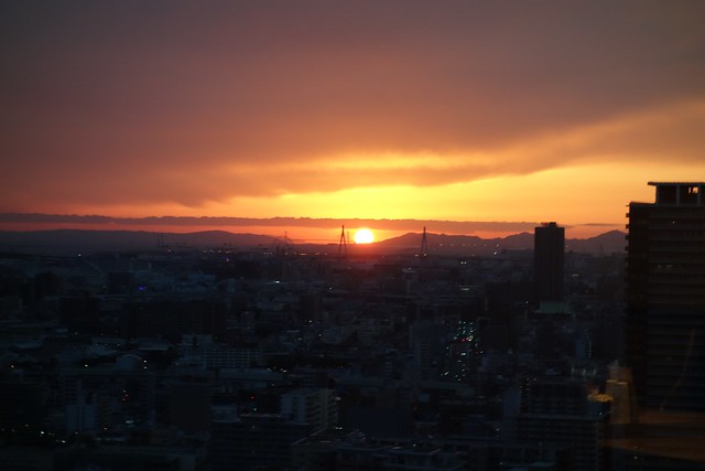 Sunset over Osaka