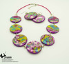 handmade polymer clay jewelry set by Dodese
