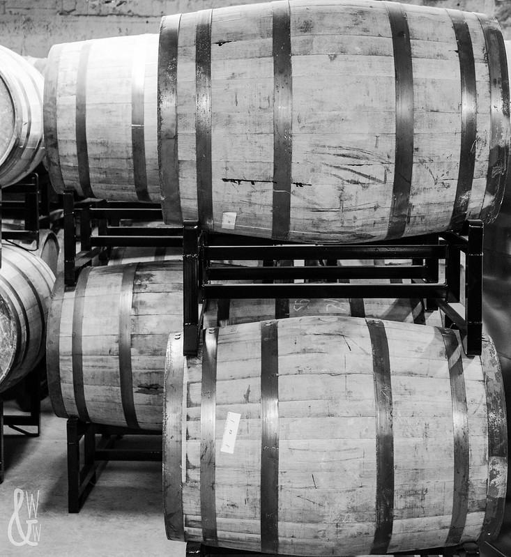 Tom's Town Barrels B&W
