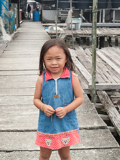 139 Little girl from Sepetang Fishing Village , Taiping