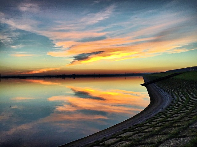 Sunset, Staines Reservoirs (North and South) #Staines #sunset