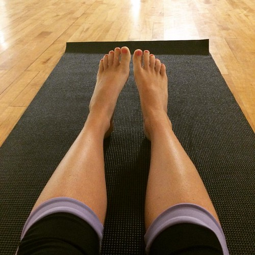It's been well over a year since I've stepped foot in a yoga studio. I imagine the next hour will be very humbling.