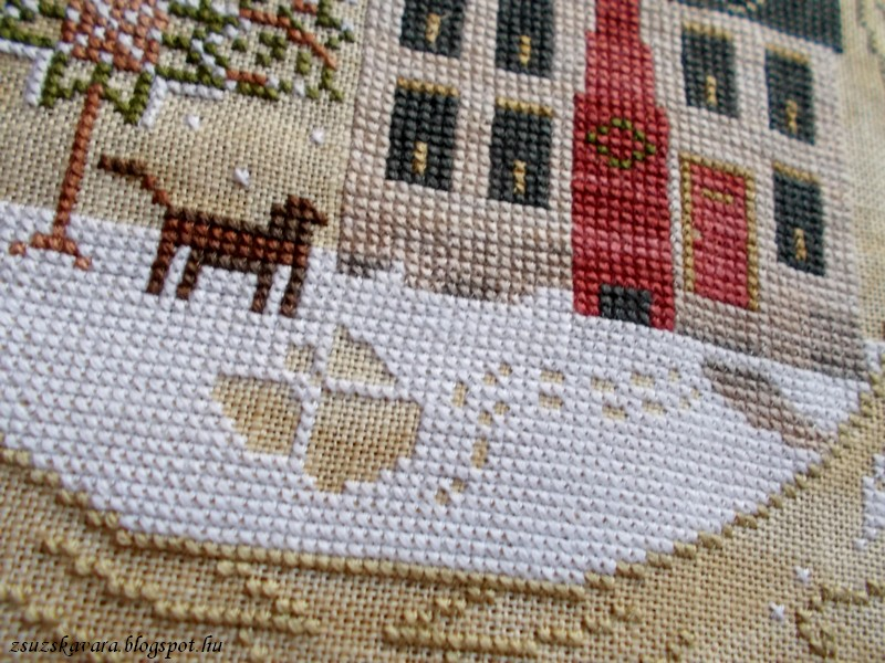 lone elm lane, snow angel, christmas, cross stitch (4)