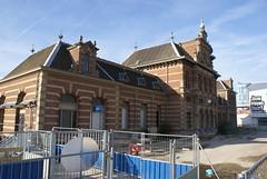 Het oude treinstation van Delft