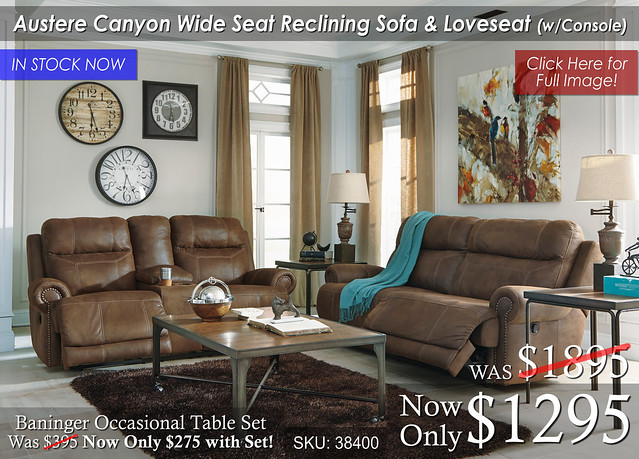 Austere Canyon Wide Seat Reclining Set