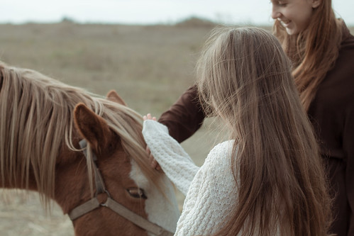 Dasha,Liza and foal