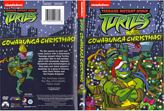 "TEENAGE MUTANT NINJA TURTLES :: COWABUNGA CHRISTMAS!"" // DVD wrap-around cover (( 2015 ))"