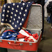 Small photo of American Flag Suitcase