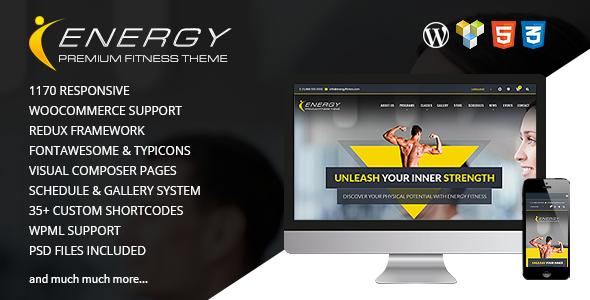 ENERGY v1.5.2 - Responsive WordPress Fitness Theme