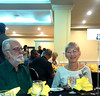 John Fletcher of BirdLife Jamaica and Jamaican Naturalist Wendy Lee at Closing Banquet/BirdsCarib2015