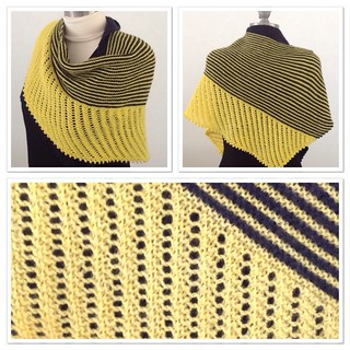 Black and yellow Cameo shawl 1