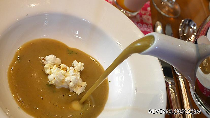 Makai Shorbha - roasted fresh corn soup