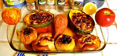 """""""How do You Like Them Apples?"""" - Cooking for Rosh HaShanah ~~ Zeroing In On Mom and Chic's Baked Sweet and Savory Stuffed Apples & Acorn Squash ~~"""