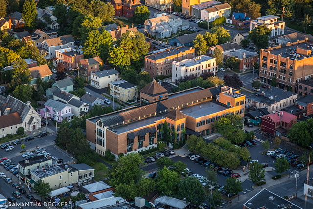 Saratoga Springs Public Library from Above