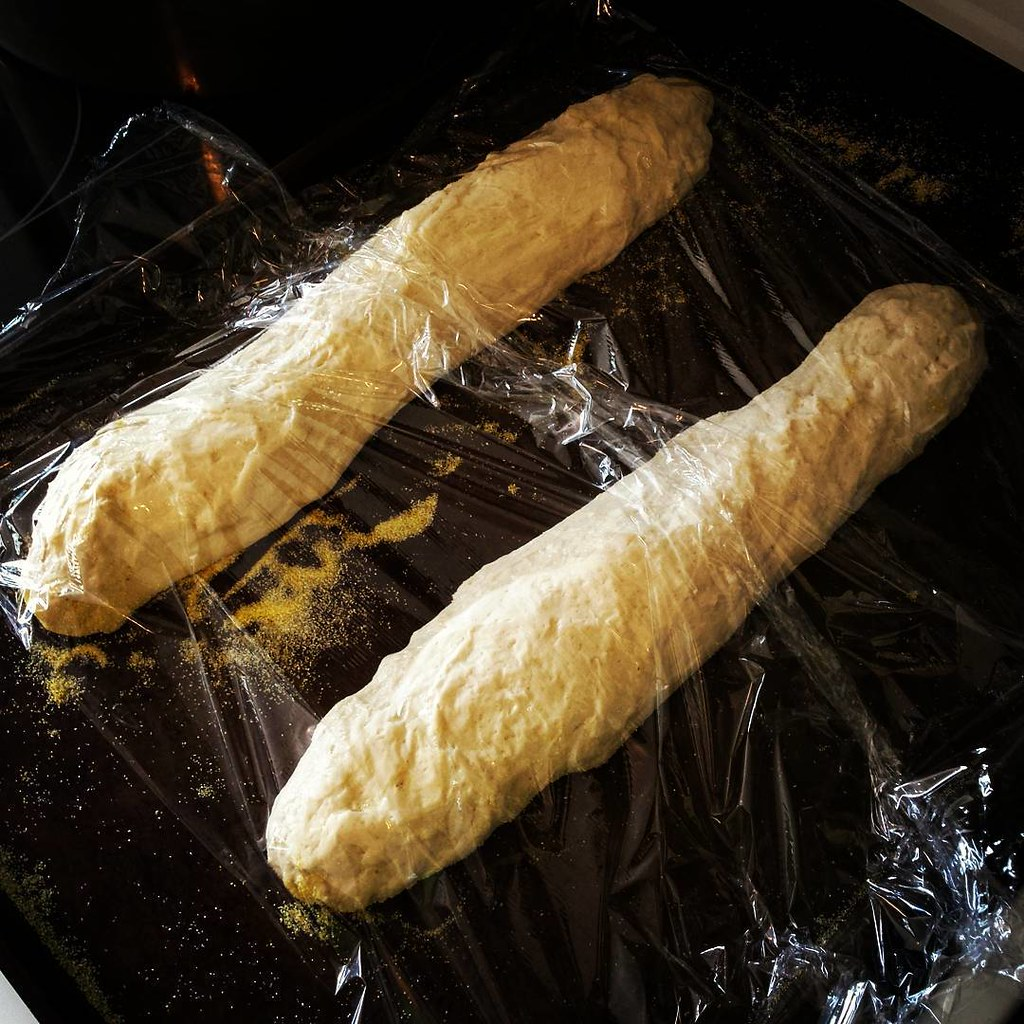 Homemade baguettes proofing for #sundaysupper !