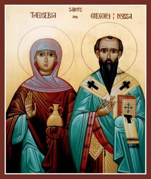 Sfantul Grigorie al Nyssei si Sfanta Teosevia, sotia sa