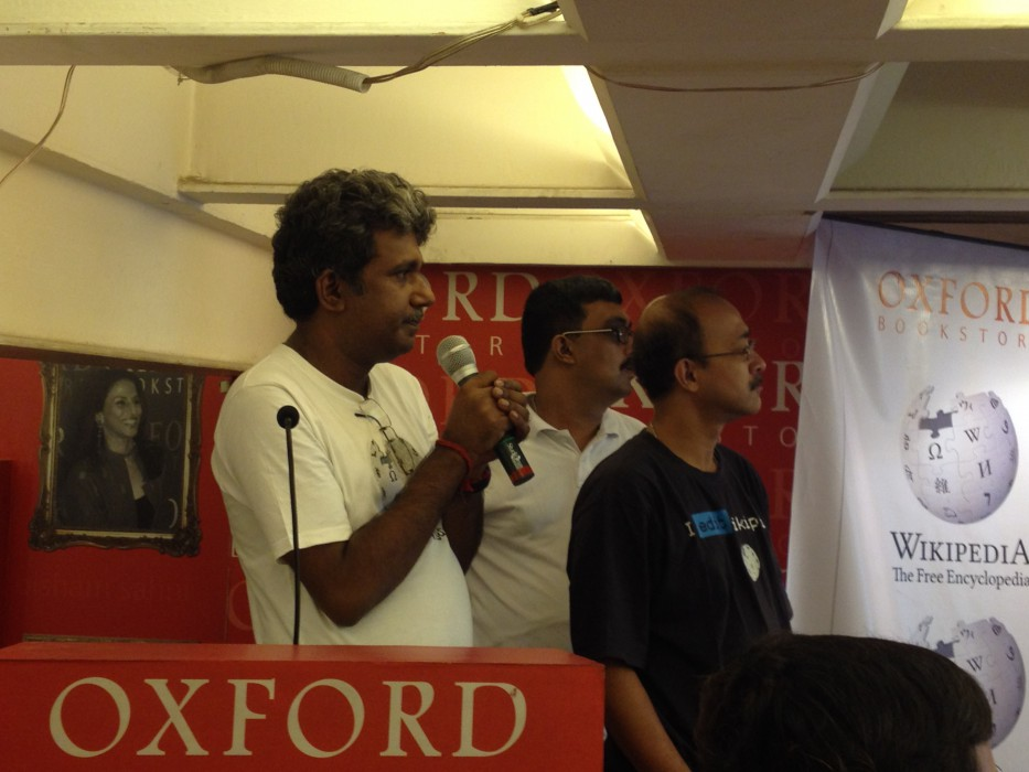 Rangan Datta at Wikilearnopedia 2015 at Oxford Bookstore Kolkata, India