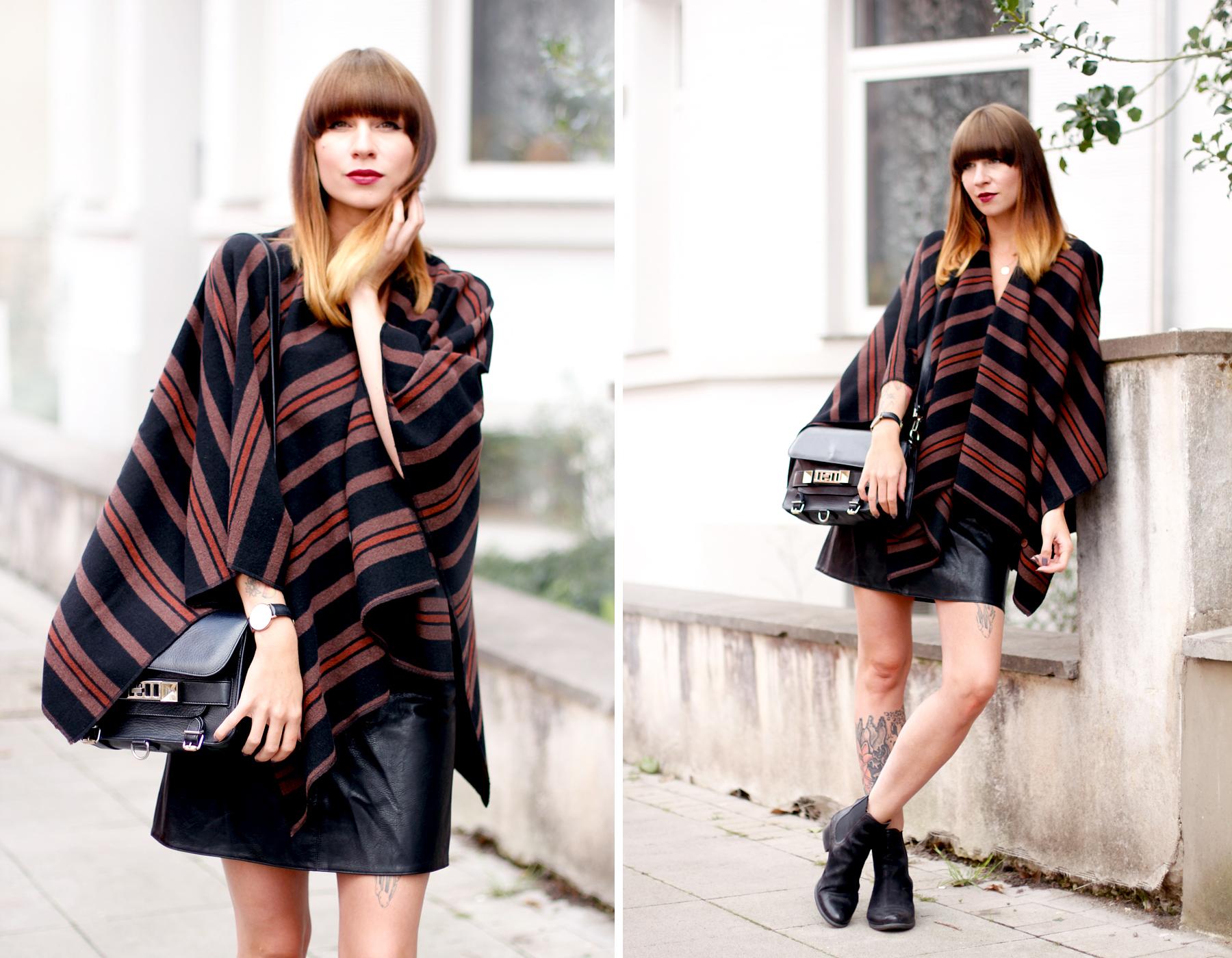 poncho lee jeans autumn cape boots sacha schuhe proenza schouler ps11 fashionblogger ricarda schernus blog düsseldorf hannover berlin cats & dogs 1
