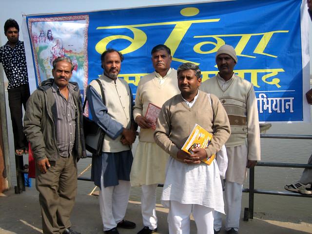 हरिद्वारा में गंगा मीटिंग के दौरान अरुण तिवारी जी