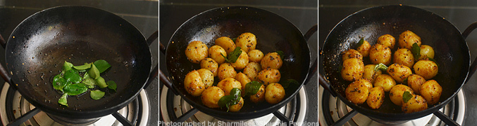How to make small potato fry - Step3