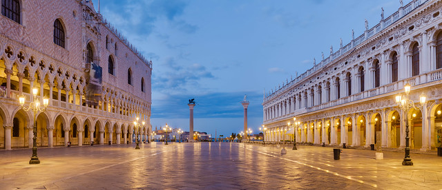 Piazzetta San Marco, Venice, at Dawn